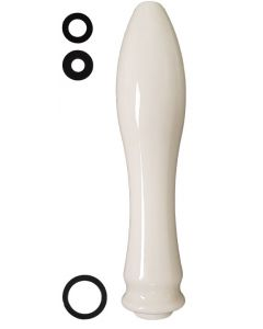 Cream Ceramic Beer Pump Handle With Washers