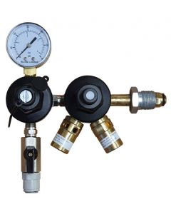 Mixed Gas 2 Stage Primary Regulator with Secondary Regulator (Beer Spec)