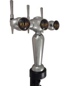 3 Tap Parisian Clamp-on Beer Font with Taps