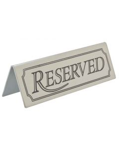 Table Sign - RESERVED - Stainless Steel