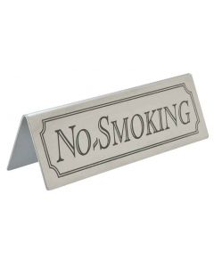 Table Sign - NO SMOKING - Stainless Steel