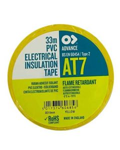 Yellow 19mm x 33mtr Insulation Tape