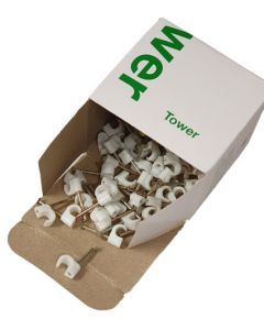 "Pipe Clip - White for 3/16"" MDP Tube 100 pack"
