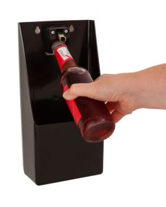 Wall Mounted Bottle Opener & Cap Catcher
