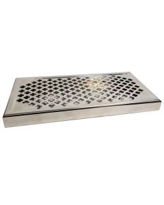 Bar Top Drip Tray and Grate Stainless Steel