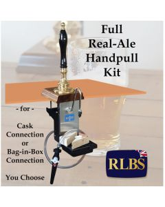 Full Real Ale Cask  or Bag-in-Box Beer Hand Pull Kit - Ready to Serve
