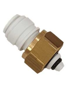 "3/8"" x 1/2""BSP Keg Coupler Gas Inlet Adaptor with NRV"