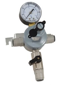 V3002G Secondary Reducing Regulator with Pass-Through (Wall Mount) with 1 Gauge