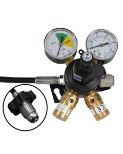 Mixed Gas Primary Gas Bottle Regulator (Wall Mount) with 2 Gauges