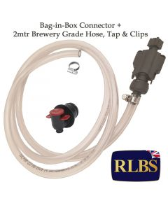 Bag-in-Box BIB Cask Handpull Connection Pipe + Tap