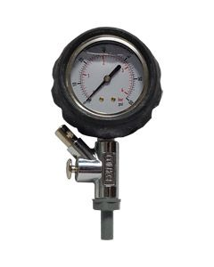 Line Pressure Test Tool (Snifter) 0-60psi Liquid Filled Gauge with Rubber Cover