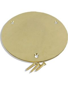"5"" Dia Brass Round Bar Cover Disk"