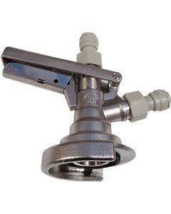 """A-Type Keg Coupler with 3/8"""" Push Fit Fittings"""