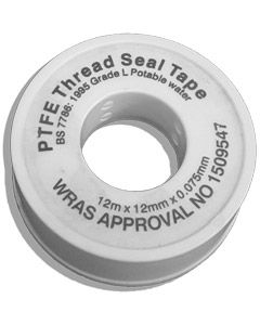 PTFE Tape - Roll - 12mm x 12mtr (Thread Sealant Tape)