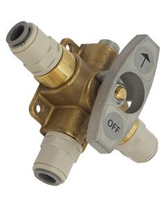 """Change Over Valve (Brass) with 3/8"""" John Guest Port"""