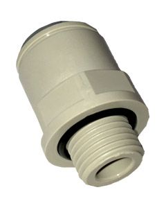 "3/8"" x 1/4"" BSP Thread - Straight Adaptor - Push Fit"