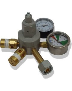 CO2 Primary Gas Bottle Regulator (Bottle Mount) with 2 Gauges