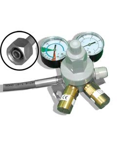 CO2 Primary Gas Bottle Regulator (Wall Mount) with 2 Gauges