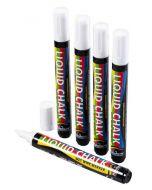Blackboard 6mm Chisel Tip White Pen - 5 Pack